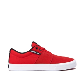 Mens Supra Low Top Shoes STACKS II VULC Risk Red/white | AU-79007