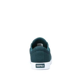 Mens Supra Low Top Shoes STACKS II VULC Evergreen/white | AU-28884