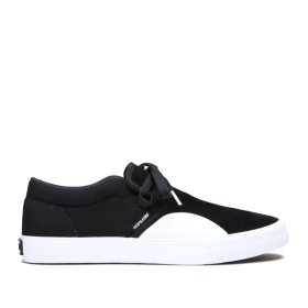 Mens Supra Skate Shoes CUBA Black/white | AU-96967