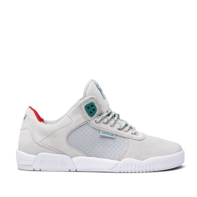 Mens Supra Skate Shoes FULTON Cool Grey/Lt Grey/white | AU-70251