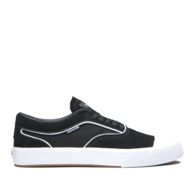 Mens Supra Skate Shoes HAMMER VTG Black/white | AU-35354