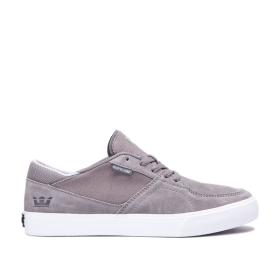Mens Supra Skate Shoes MELROSE Grey/white | AU-30290