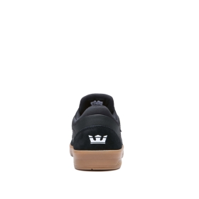 Mens Supra Skate Shoes SAINT Black/gum | AU-14129