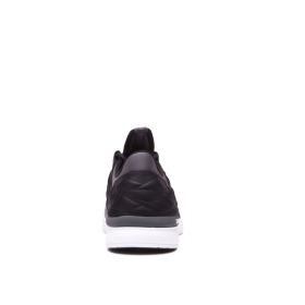 Mens Supra Trainers FLOW RUN EVO Black/Dk Grey/white | AU-50411