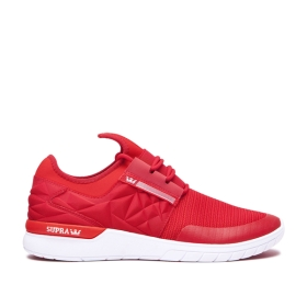 Mens Supra Trainers FLOW RUN EVO Formula One/Risk Red/white | AU-29189
