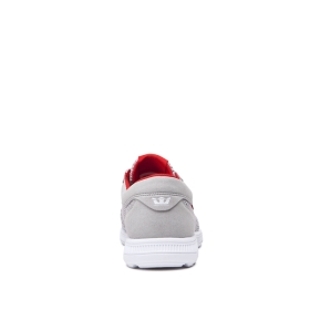 Mens Supra Trainers HAMMER RUN Lt. Grey/Risk Red/white | AU-58908