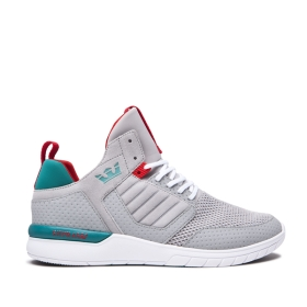Mens Supra Trainers METHOD Lt. Grey/Teal/white | AU-79902