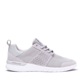 Mens Supra Trainers SCISSOR Lt.Grey/white | AU-86546