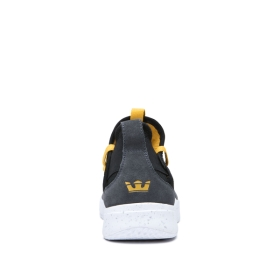 Mens Supra Trainers TITANIUM Dk Grey/Black/Golden/white | AU-22145