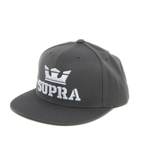 Supra ABOVE SNAP Hats Charcoal/white | AU-58210