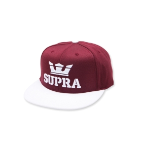 Supra ABOVE SNAP Hats Maroon/White | AU-58118