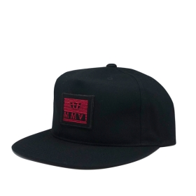 Supra CROWN JEWEL PATCH SLIDER Hats Black/Red | AU-61224