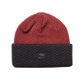 Supra HERRING BEANIE Hats Black/Red | AU-66734