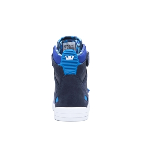 Womens Supra High Top Shoes BREAKER Navy/Royal/white | AU-58453