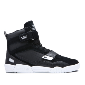 Womens Supra High Top Shoes BREAKER Black/Silver/white | AU-71726