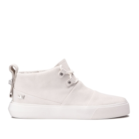 Womens Supra High Top Shoes CHARLES Off White/off White | AU-95722