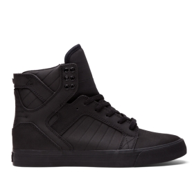 Womens Supra High Top Shoes SKYTOP Black/Black | AU-48026