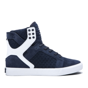 Womens Supra High Top Shoes SKYTOP Navy/Navy/white | AU-30550