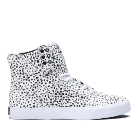 Womens Supra High Top Shoes SKYTOP Spot/white | AU-37965