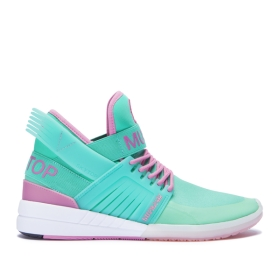 Womens Supra High Top Shoes SKYTOP V Mint/Rose/White | AU-86867