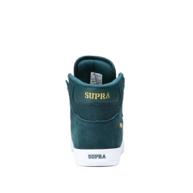 Womens Supra High Top Shoes VAIDER Evergreen/Gold/white | AU-74272
