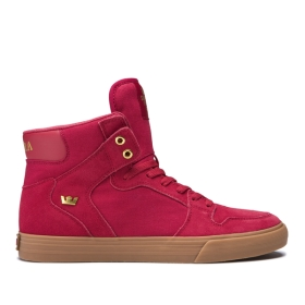 Womens Supra High Top Shoes VAIDER Rose/Gold/lt Gum | AU-15752