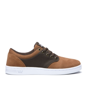 Womens Supra Low Top Shoes CHINO COURT Brown/Demitasse/white | AU-98696