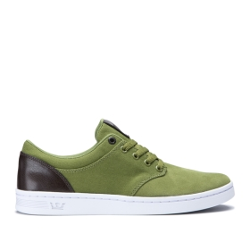 Womens Supra Low Top Shoes CHINO COURT Army Green/Gray | AU-70792