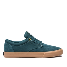 Womens Supra Low Top Shoes CHINO Evergreen/gum | AU-35342