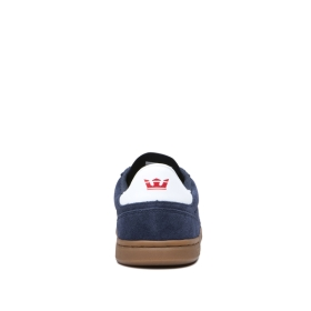 Womens Supra Low Top Shoes ELEVATE Navy/Gum | AU-76937