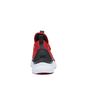 Womens Supra Low Top Shoes FACTOR Risk Red/Black/White | AU-93895