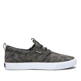 Womens Supra Low Top Shoes FLOW Camo/White | AU-69620