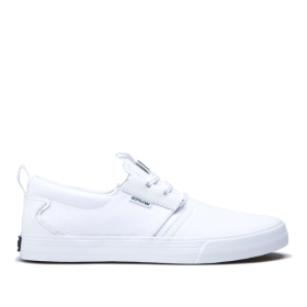 Womens Supra Low Top Shoes FLOW White/white/Gum | AU-30882