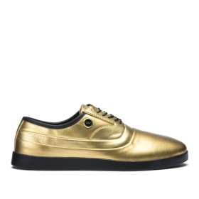 Womens Supra Low Top Shoes GRECO Gold/Black | AU-72359