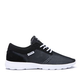 Womens Supra Low Top Shoes HAMMER RUN Black Emboss/white | AU-29579