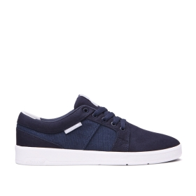 Womens Supra Low Top Shoes INETO Navy/white | AU-78073