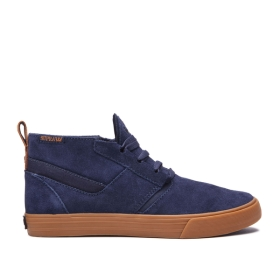 Womens Supra Low Top Shoes KENSINGTON Navy/gum | AU-65091