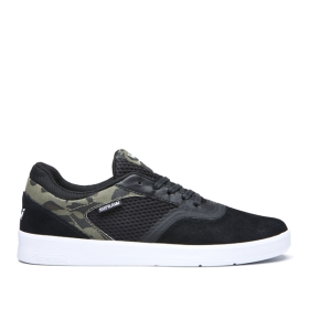 Womens Supra Low Top Shoes SAINT Black/Camo/white | AU-97163