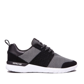 Womens Supra Low Top Shoes SCISSOR Black/White/white | AU-31650