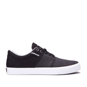 Womens Supra Low Top Shoes STACKS II VULC Black/Cool Grey/white | AU-62243