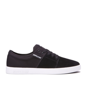 Womens Supra Low Top Shoes STACKS II Black/Grey/white | AU-16121